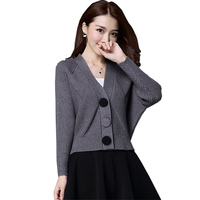 New Spring Autumn Knit Cardigans Women Short Loose Long Sleeve V Neck Sweaters Female Outwear Coat