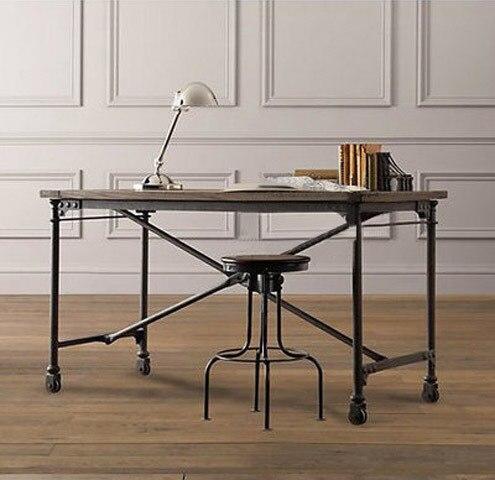 loft industriel style american vintage bois tables en fer forg tables et chaises ordinateur. Black Bedroom Furniture Sets. Home Design Ideas