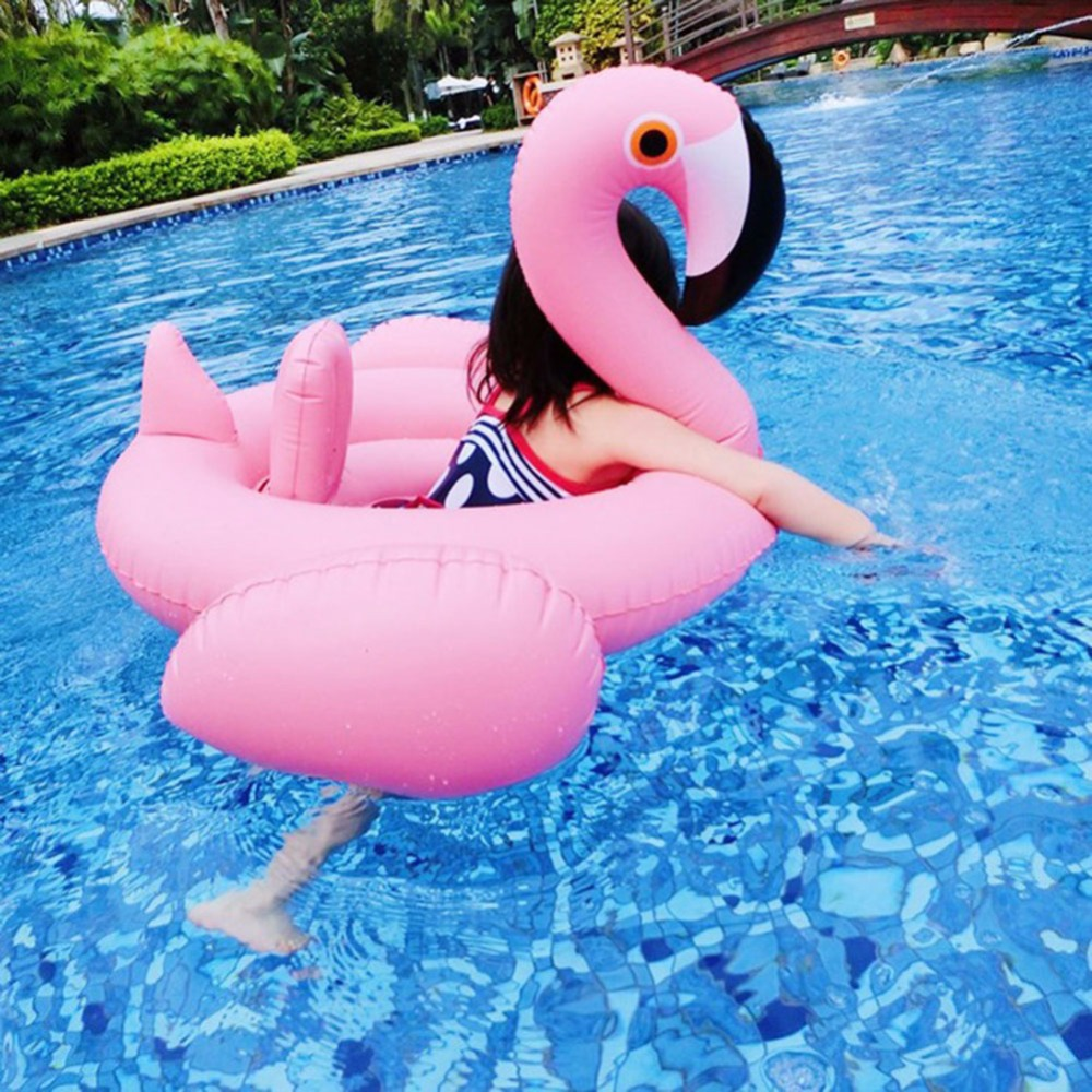Children Inflatable Flamingo Balloon Kids Safety Protection Mounts Swimming Party Pool Toys Inflatable Floating Swimming Ring