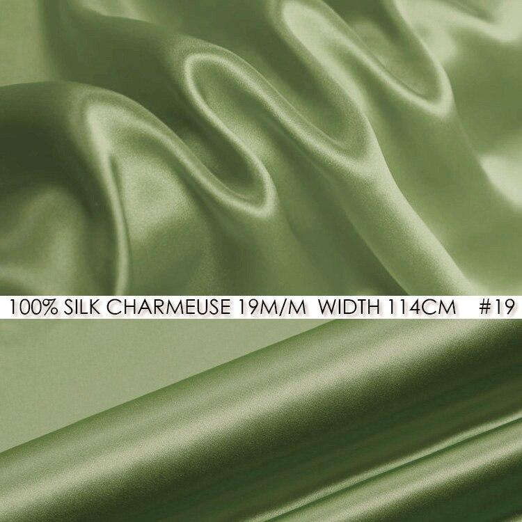 100 Silk Charmeuse Satin 114cm Width 19mommes Pure