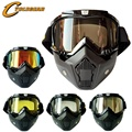 Cyclegear Brand New Motorcycle Mask Goggles Detachable Modular Mask Fitting Vintage Helmets Gafas CG03