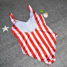 One Pieces Stripe Push Up Jumpsuit Vest Bathing Suit