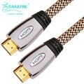 Samzhe 1080 p hdmi cable tipo europa 4 k * 2 k hdmi cable de audio y vídeo estándar chapado en oro de 19 pines macho a macho hdmi Cable
