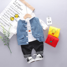 2019 Autumn Toddler Boys Girls Clothes Suits Children Baby Clothing Set Vest Hooded T Shirt Pants Sets Infant Kids Costume Suit цена в Москве и Питере