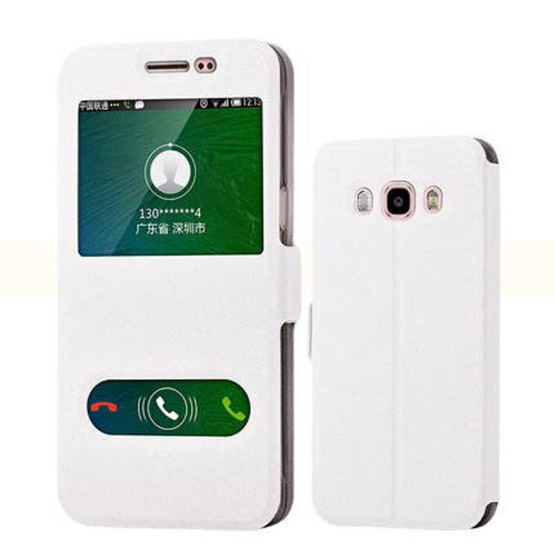 Flip Case for Samsung Galaxy <font><b>J5</b></font> 2016 J510 J 5 J <font><b>510</b></font> Case View Window PU Leather Flip Cover Protective Shell Fundas Shockproof image