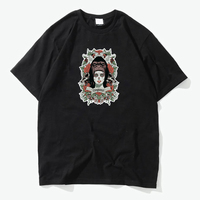 Chinese dragon and skull patch 100% cotton tee vintage color t shirts