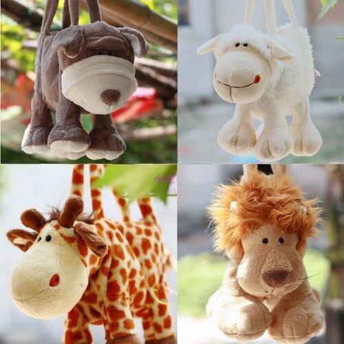 candice guo! nový příjezd teplý prodej plyšová hračka zvíře kabelka roztomilá ovce žirafa lva pes taška narozenin dárek 1ks
