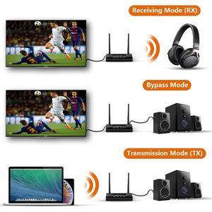 Image 2 - Bluetooth 5.0 nadajnik odbiornik daleki zasięg Audio Adapter do TV PC słuchawki, aptX HD, krótki czas oczekiwania, podwójny Link, optyczny RCA 3.5mm