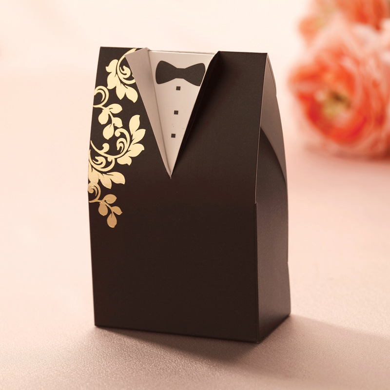 The Cheap Wedding Gift Of 2017 Wedding Gift Black Sugar Paper Box Exquisite Wholesale  Thanksgiving Day  CB2002