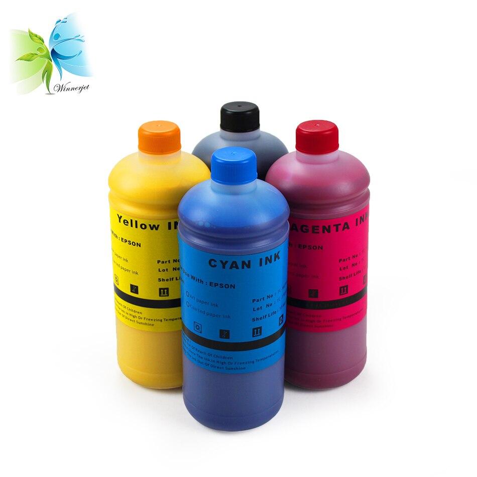 Winnerjet 1000ml Art Paper ink For For Epson R200 R210 R230 R250 R260 R265 R270 R280 T10 T20 T13 T30 T33 T50 T60 P50 4 color in Ink Refill Kits from Computer Office