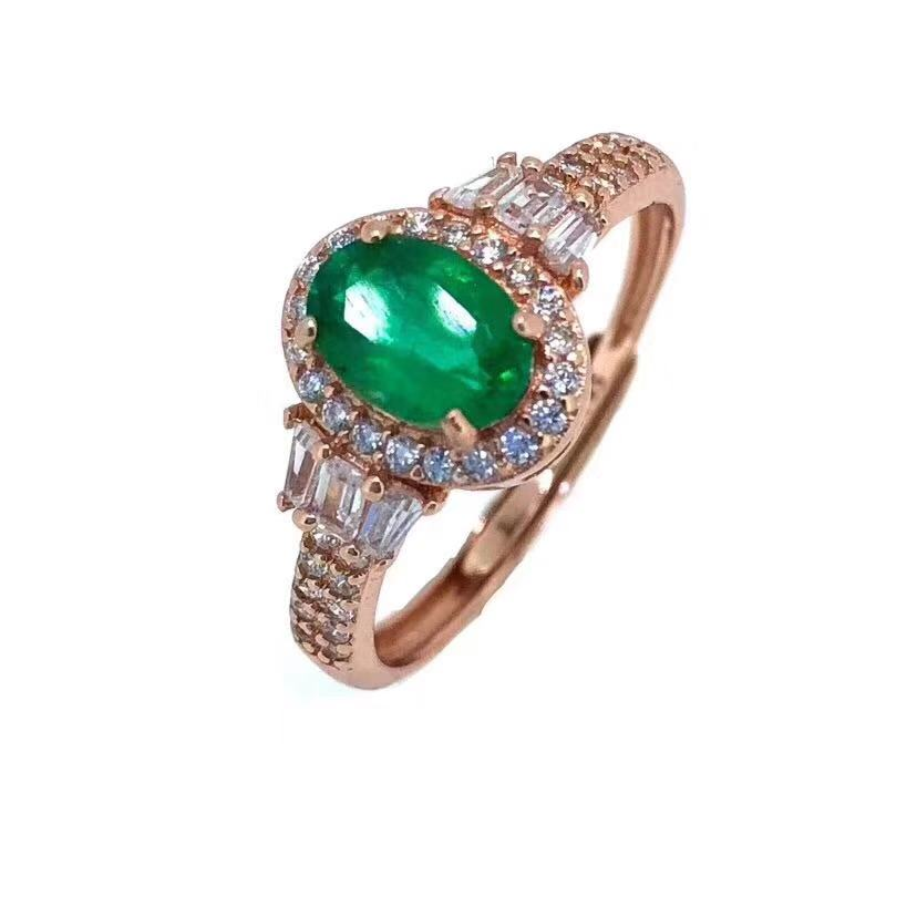 Natural emerald ring Free shipping 925 sterling silver Natural real emerald Fine green gem jewelry gem Shiny ring elephant faux gem beaded ring