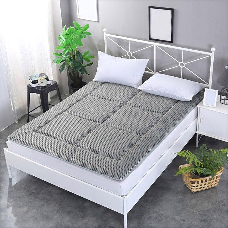 Chic Mattress Pure Color Mesh Pad Bedroom Durable Sleeping Floor Bed Cushion Indoor Foldable Mat Bedroom Furniture цена и фото