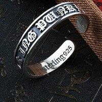 באייר קנס רומנטיים אופנה צמיד כסף סטרלינג 925 תכשיטי צמיד צמיד אדם ונשים BR925SZ077