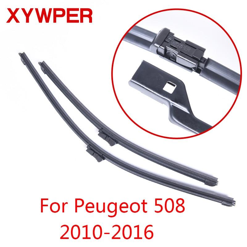 XYWPER Lames D'essuie-Glace pour Peugeot 508 2010 2011 2012 2013 2014 2015 2016 Accessoires De Voiture En Caoutchouc Souple voiture pare-brise essuie-glaces