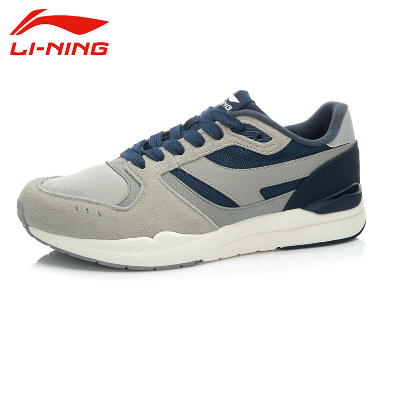 LI-NING 2015 New Outdoor  Style Brand Sports Life Series Patchwork Sport Shoes Sneakers Walking Men ALCK017 XMR1050