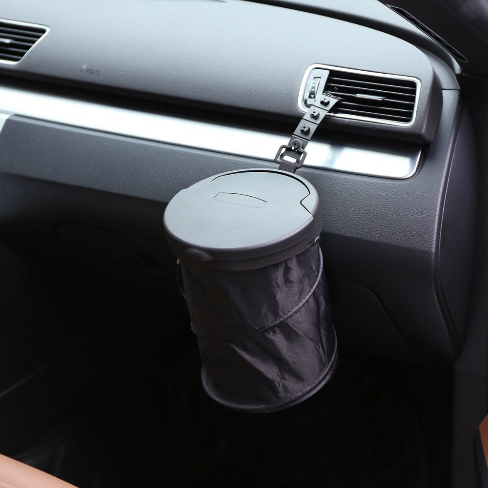 Car Trash Bin Cans Folding Garbage Dust Holder Rubbish Cases Car Organizer Storage Bag For Opel Astra H G J Insignia Mokka