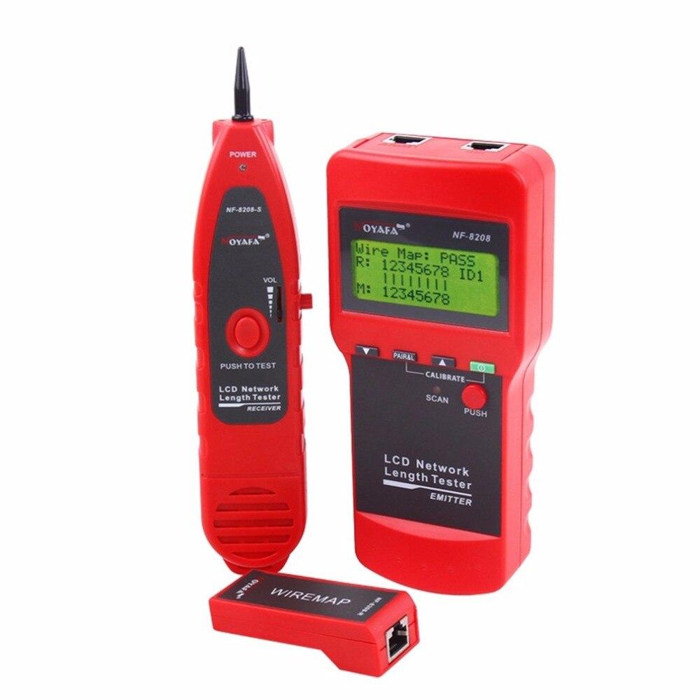 Noyafa NF-8208 Многоцелевой ЖК-дисплей сети телефонный кабель тестер Tracker линии Finder провода тестер кабель локатор