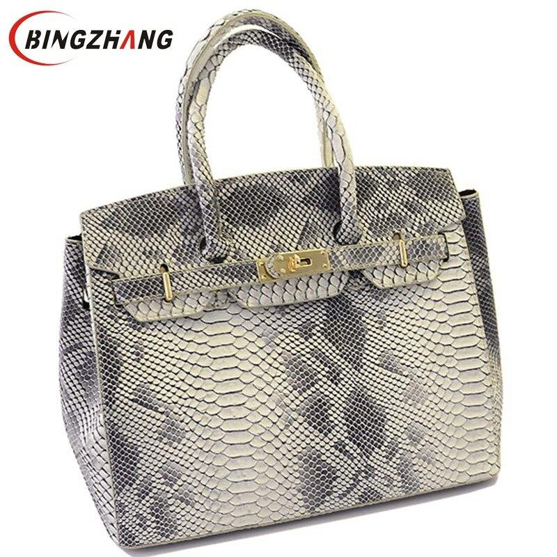 Brand fashion Snake skin bags Women Handbag 2017 New high quality women s messenger bags Designer