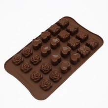 Food Grade Silicone Rose Love Gift Box Chocolate Mold Heat Resistant Jelly Fruit