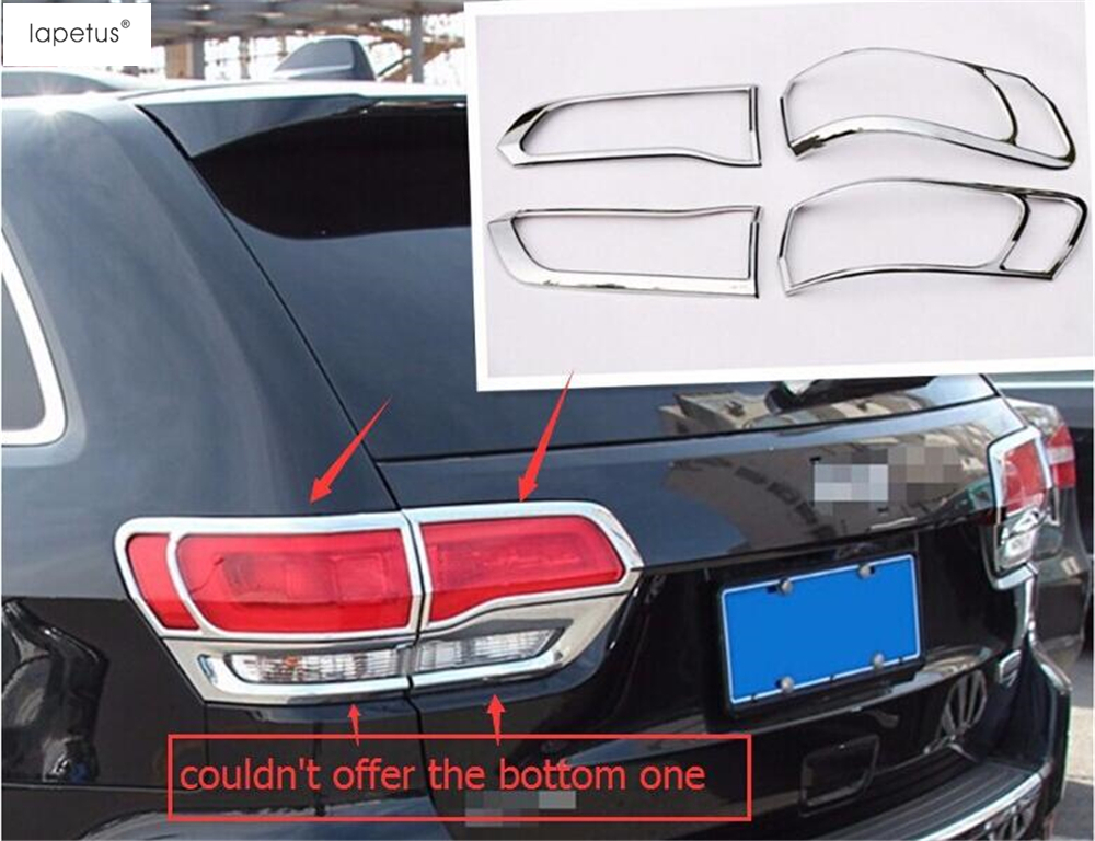 Accessories For Jeep Grand Cherokee 2014 2015 2016 Tail Light TailLight Rear Lamp Protection Molding Cover Kit Trim 4 Pcs