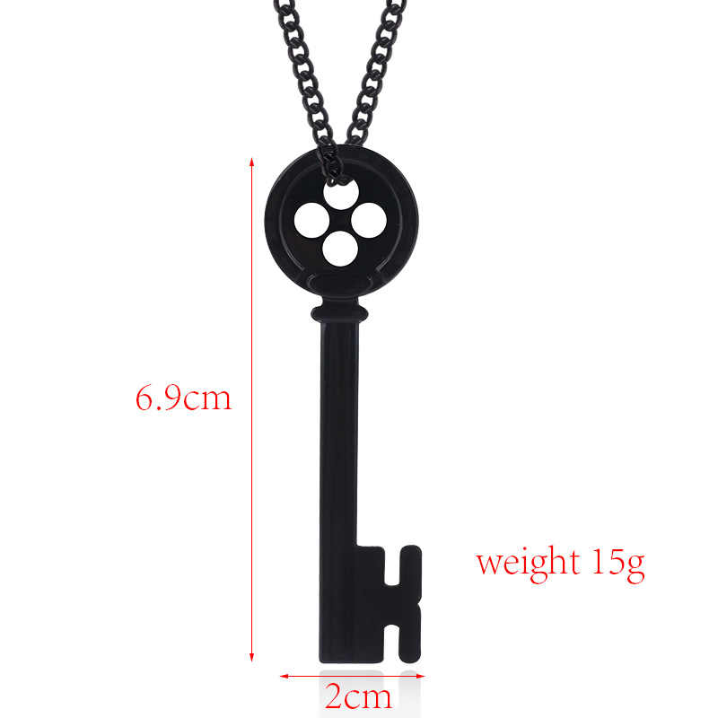 Halloween Coraline The Secret Door Charms Necklace Figure Key Skeleton Props Neil Gaiman Cosplay Jewelry Pendant Necklaces Aliexpress