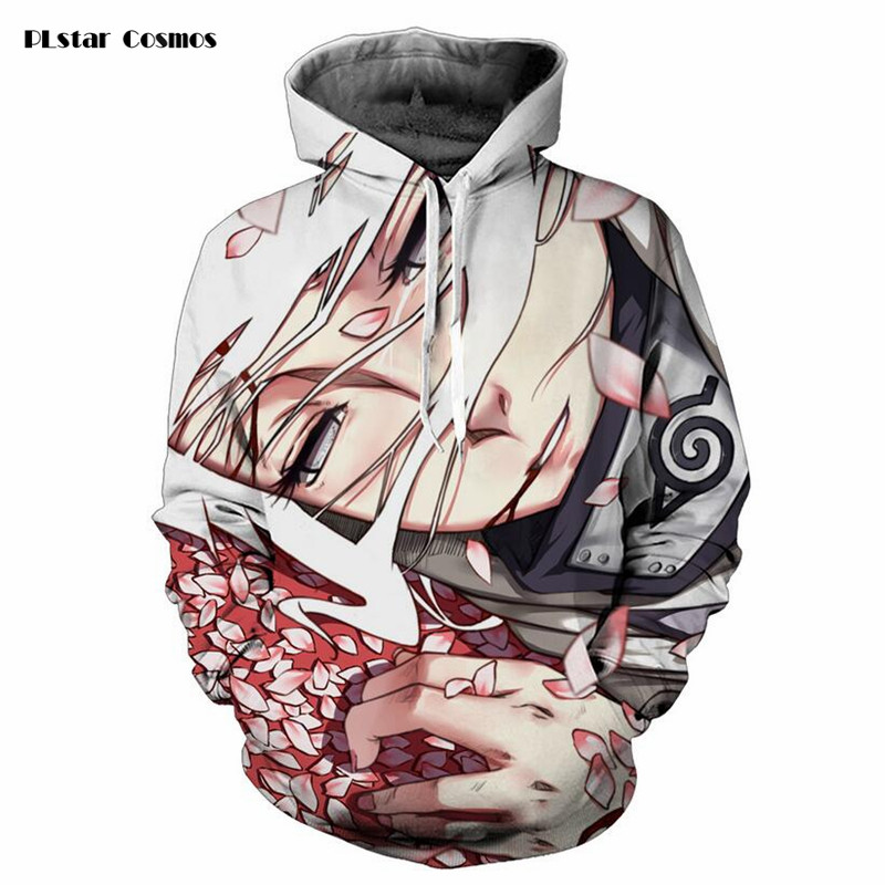 2018 New Hooded Sweatshirts Men Hipster 3d Hoodies Anime Naruto Sasuke Cool Hoodie Male female casual Long Sleeve Outerwear Tops