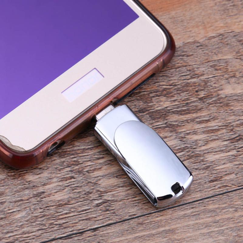 16/32/64 GB OTG Unidade Flash USB Tipo-C, Corrente chave U Disk Memory Stick, rotação Pendrive Pen Drive para Computador Telefone