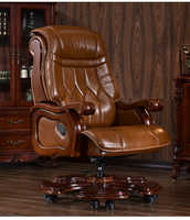 Boss chair. Leather chair. Massage computer chair. Real wood study chair.6