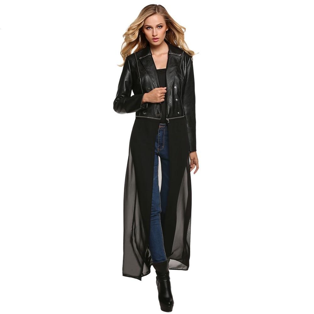 Popular Leather Jacket Women Long-Buy Cheap Leather Jacket Women