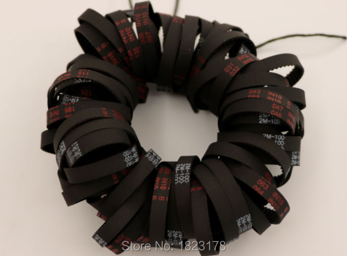 10pcs GT2 100 belt closed loop rubber 2GT-100-6 timing belt Teeth 50 Length 100mm width 6mm for 3D printer 9