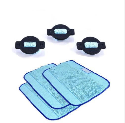 3 Whter Wick Cap + 3 wet Dweeping Mopping cloth pad kit for irobot braava 380t 380 mint 5200 5200c Robot Replacement patrs цена