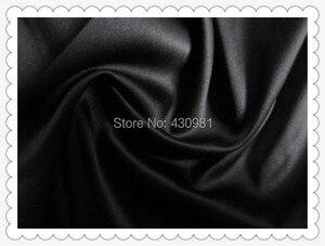 Image 4 - Großhandel 2 meter voll langweilig elastische satin stoff imitation seide material für ein stück kleid schwere schwarz satin spandex stoff