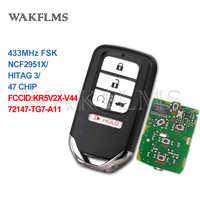 5 Buttons 433MHz NCF2951X / HITAG 3 / 47 CHIP Keyless Go / Entry Car Key For Honda Pilot Elite Civic CR-V 72147-TG7-A11