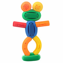 50pcs Kids Funny Plastic Building Blocks Educational Toys For Children 3D Construction Toy Baby DIY Bullet  Design Funny Bricks