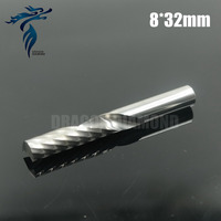 5pcs 8 32MM Single Flute Spiral Drill Bits Carbide Cutters CNC Engraving Tools End Milling On