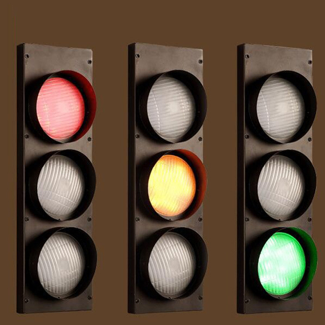 Creative Led Traffic Light Retro Sconce Wall Light With Multiple - Traffic light for bedroom