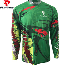 FURY RACE 2017 Cycling Clothing Men's Offroad Downhill Jerseys Python Printing DH Mountain Bike Jersey Motorcycle Bicycle Shirts