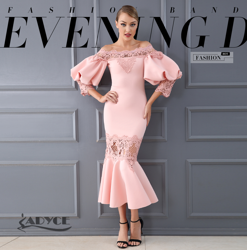 Vestido Evening Lace Hollow 1