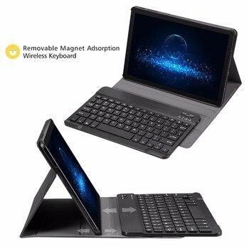 Fundas Samsung Galaxy S4   Slim Folio Cuero PU Pie Con Tapa Desmontable Teclado Inalámbrico Para Samsung Galaxy Tab S4 Modelo 10,5 SM-T830/ T835/T837