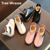 Tree Wrasse Children Breathable Flat Snow Boots Winter New Girls Baby Warm Velvet Cotton Shoes Kids
