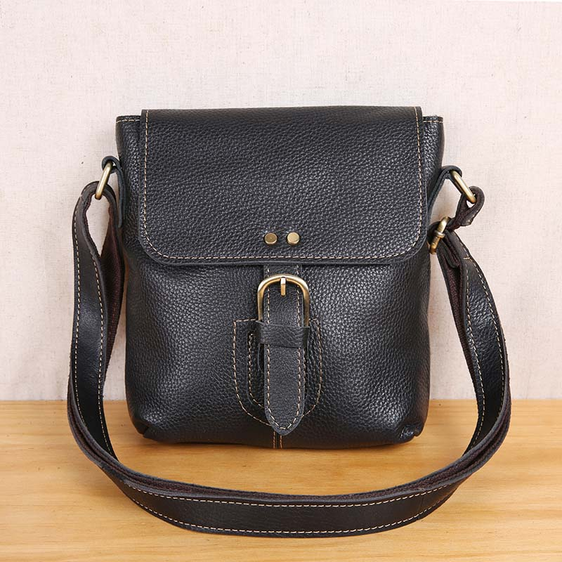 AETOO Leather retro men's bag shoulder mini bag top layer leather casual messenger bag ksl camping comfort page href page 5