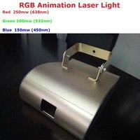 1 шт. Бесплатная доставка 500 МВт RGB Полноцветный работающий через протокол DMX лазерный свет проектора лучевой прожектор сканирования диско DJ
