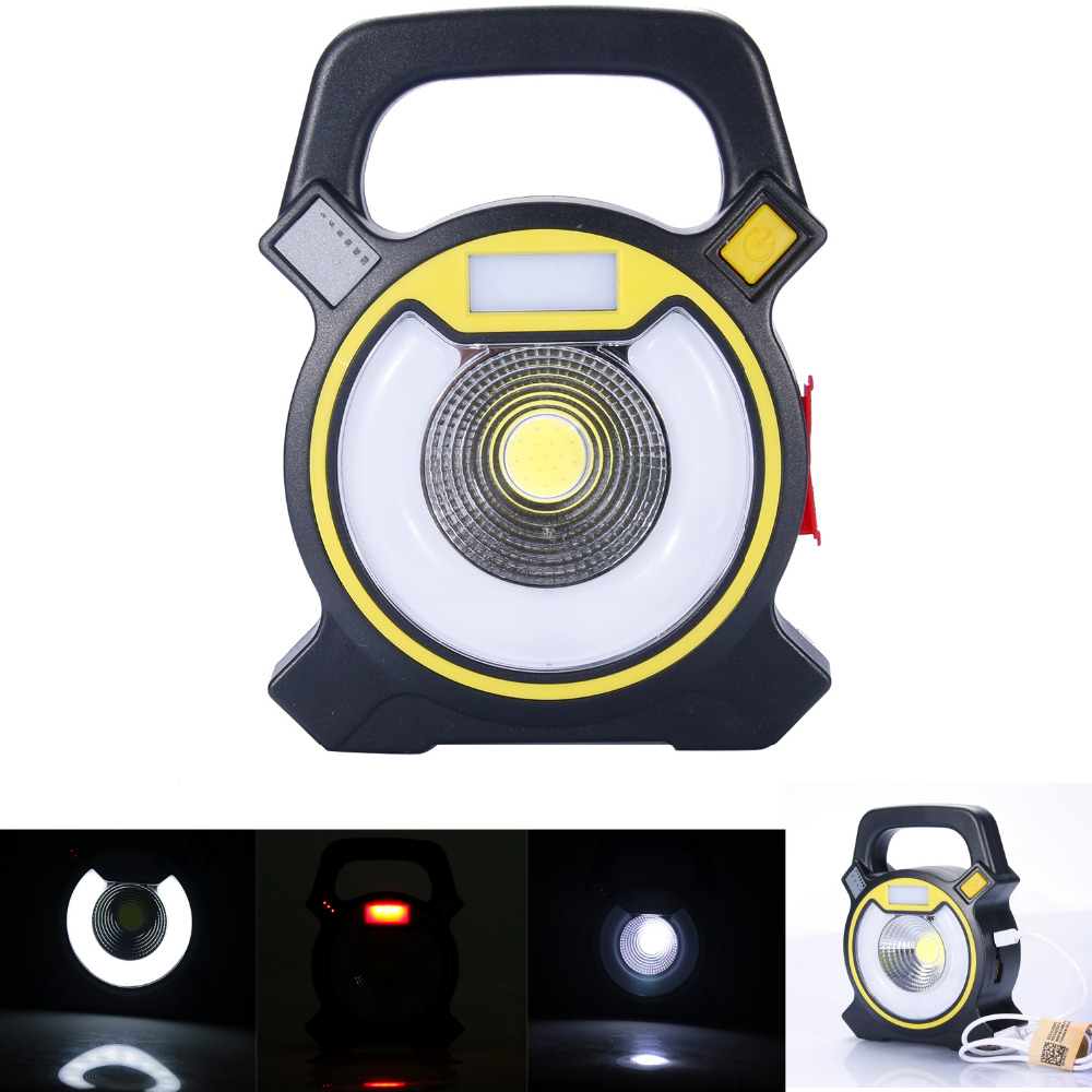 USB LED lamp 18650 Work light rechargeable Multifunction Red blue portable light Campfire outdoor jobs Overhaul