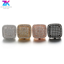 ZHUKOU A pair of 12x18mm Sparkling square crystal earrings Fashion Jewelry for Women model:VE43 pair of chic snowman christmas earrings jewelry for women