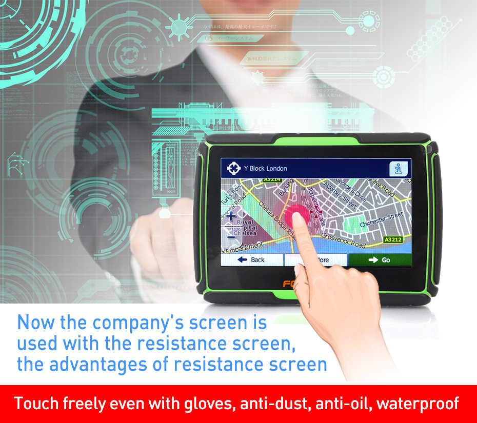 Fodsports 4.3 インチオートバイナビゲーション 8 ギガバイト 256RAM IPX7 防水モト gps 車ナビゲーター fm bluetooth windows システム無料の地図