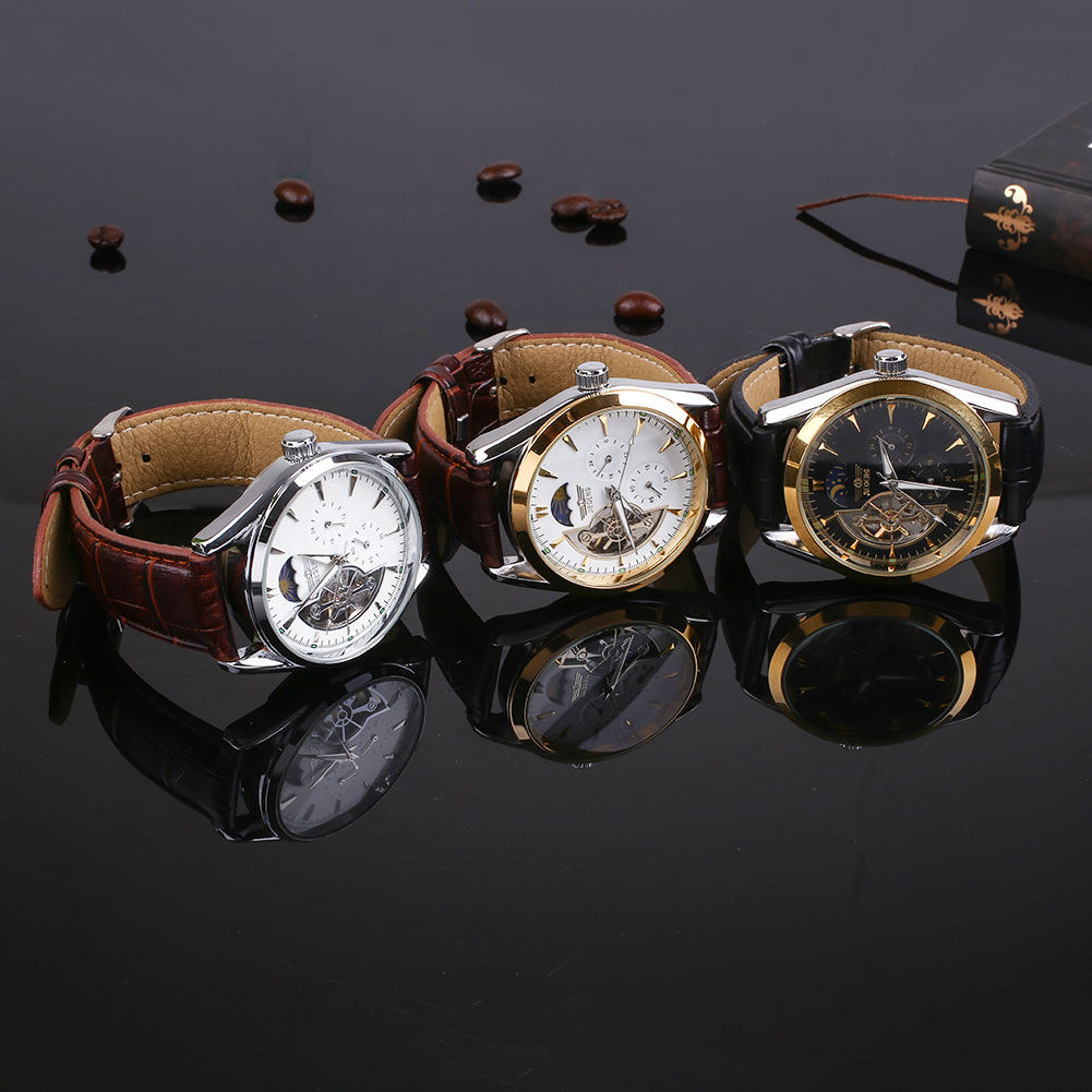 Classic Watch Men Men's Fashion Automatic Analog Stainless Steel Quartz Watches Wrist Gift Mens Top Brand Luxury