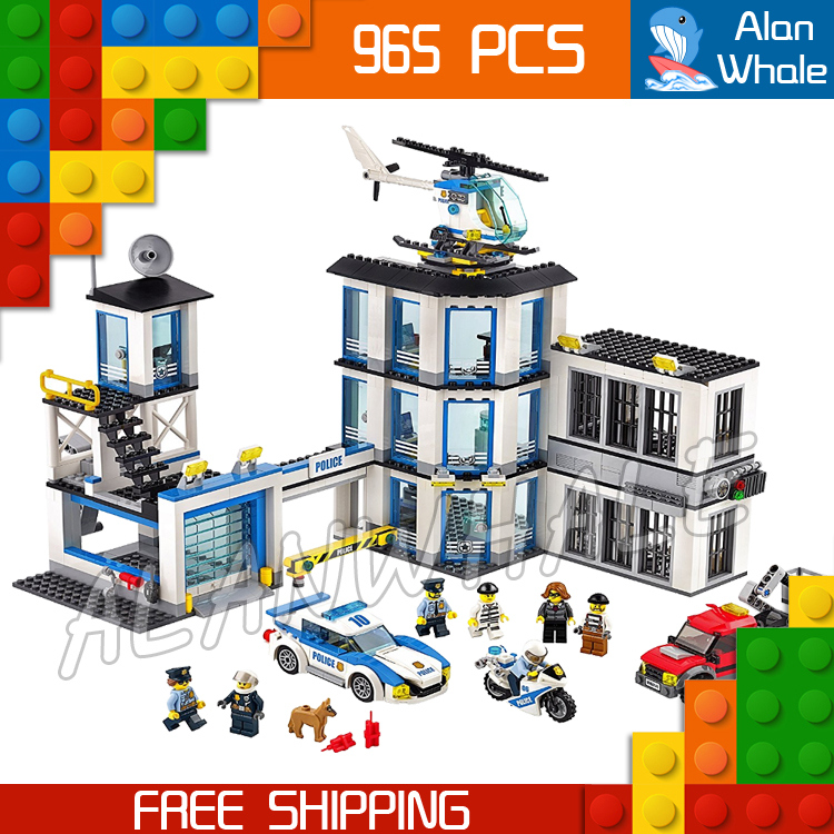 965pcs City Police Station Model Building Blocks 02020 Assemble Bricks Children Toys Movie Construction Set Compatible With Lego dhl lepin 02020 965pcs city series the new police station set model building set blocks bricks children toy gift clone 60141