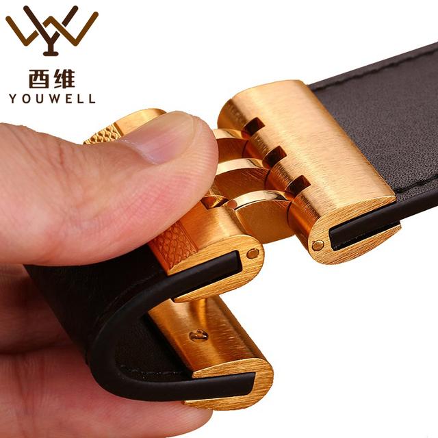 2016 Novos Cintos de Marca de Grife Homens de Alta Qualidade do Couro Genuíno Cintos de Fivela Automática Para Os Homens de Negócios de Luxo Casual Cintura