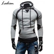 IceLion de Primavera de 2019 sudaderas con capucha de rayas de los hombres  Camiseta Slim de algodón de ropa deportiva de moda de. b2a5b43f4ed