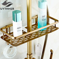 Uythner Full copper antique shower racks with hooks shower baskets racks make up racks washing racks